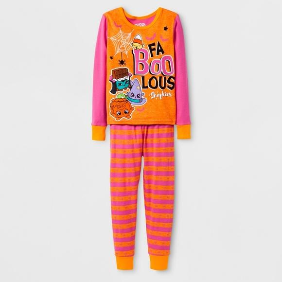 f46c4f9dc6 NWT Girls Shopkins Pajamas